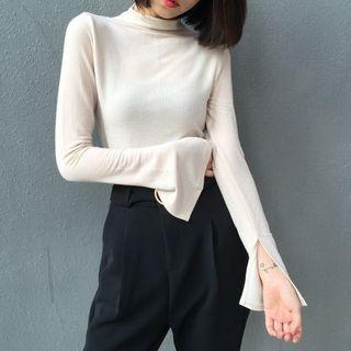 Mock-Neck Long-Sleeve T-Shirt 1064110513