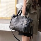 Buckled Studded Shoulder Bag