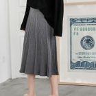 Accordion Pleat Knit Skirt 1596