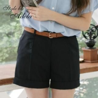 Picture of Adela Shop Cotton Shorts 1023002121 (Womens Shorts, Adela Shop Pants, South Korea Pants)