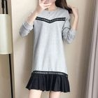 Frill Hem Long-Sleeve Dress 1596