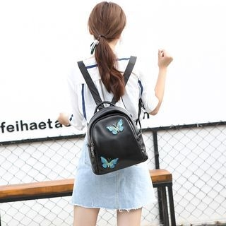 Butterfly Genuine Leather Backpack