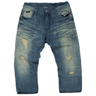 Picture of 3QR Distressed Detail Denim Capri Pants 1022690896 (3QR, Mens Pants, Korea)