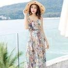Strappy Floral Midi Sun Dress 1596