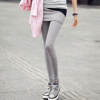 Color Block Inset Legging Skirt 1045634370