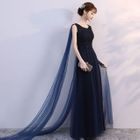 Embellished Sleeveless Evening Gown 1596