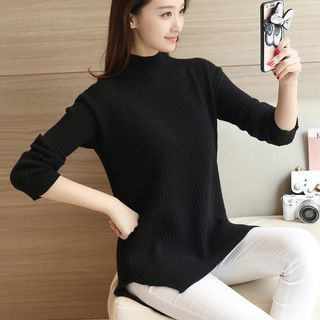 Mock Neck Ribbed Sweater 1056246568