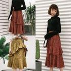 Ruffle Chiffon Midi Skirt 1596