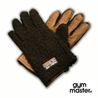 Picture of gym master Leather & Faux Fleece Gloves Black - One Size 1013972791 (gym master Apparel, Womens Fashion, Japan Apparel, Japan Fashion)