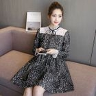 Maternity Long-Sleeve Lace Dress 1596