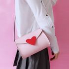 Heart Applique Shoulder Bag 1596