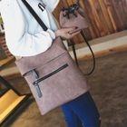 Set : Faux Leather Backpack + Bucket Shoulder Bag 1596