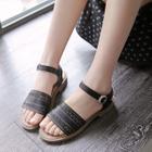 Cut Out Flat Sandals Black - 39 от YesStyle.com INT