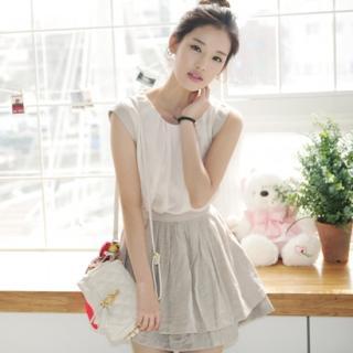 Buy VIVIDRESS Shirred Detail Layered Pleats Dress 1022488663