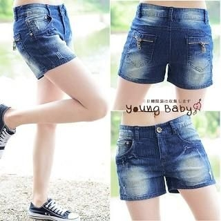 Buy YoungBaby Washed Denim Shorts 1022770237