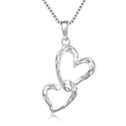 """Left Right Accessory - 925 Sterling Silver Black Cubic Zirconia Gothic Claddagh Angle Wing Necklace (16"""")