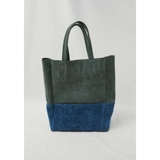 Two-Tone Faux-Suede Tote 1064663906