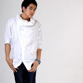 Picture of deepstyle Cowl-Neck Shirt 1022280608 (deepstyle, Mens Tees, Korea)