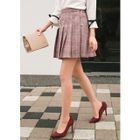 Pleated Plaid Mini Skirt 1596
