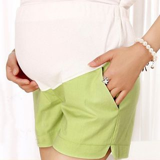 maternity-linen-cotton-shorts