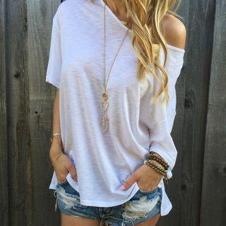 Elbow-Sleeve T-Shirt 1046097952