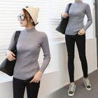 Mock-Neck Slim-Fit Ribbed Knit Top 1596