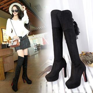 Over-the-Knee High-Heel Boots
