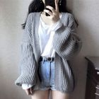 Open-Front Chunky Cardigan 1596