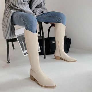 Chunky-heel Tall Boots