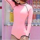 Plain Long-Sleeve Swimsuit 1596