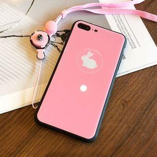 Rabbit Print Phone Case with Mobile Strap - iPhone 6 / 6 Plus / 7 / 7 Plus / 8 / 8 Plus / X 1065373570