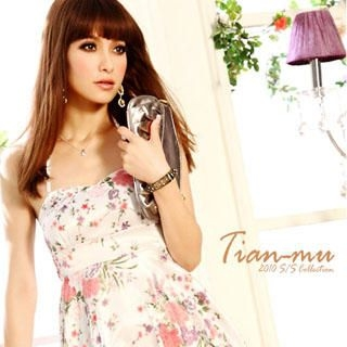 Buy Tian Mu Floral Print Dress 1022861733