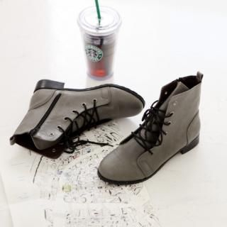 Picture of Youareagirl Lace-Up Ankle Boots 1022709980 (Boots, Youareagirl Shoes, Korea Shoes, Womens Shoes, Womens Boots)
