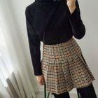 Houndstooth Mini Pleat Skirt 1596
