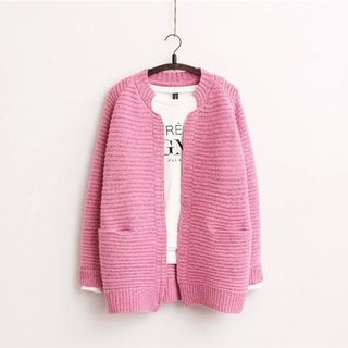 Plain Ribbed Cardigan 1054311539