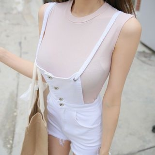 Round-Neck Sleeveless Top 1060355593