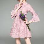 Bell-Sleeve Dress 1596