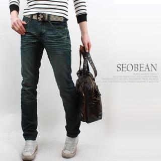 Buy SEOBEAN Slim-Fit Washed Jeans 1022254125