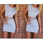 Sleeveless Cut Out Dress 1596