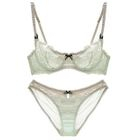 Set: Lace Panel Bra + Panties 1596