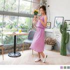 Linen-blend Sleeveless Dress 1596