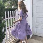 Cutout Ruffle Short-Sleeve Dress 1596