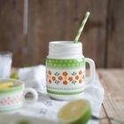 Patterned Mug / Double-Handle Soup Bowl 1596