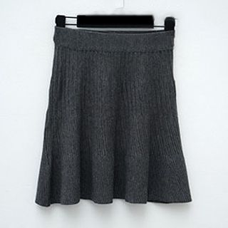 Ribbed A Line Knit Skirt 1045343090