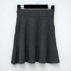 Ribbed A Line Knit Skirt 1596