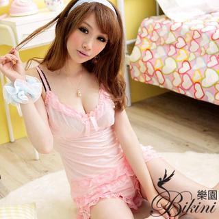 Buy BiKiNi Wonderland Set: Heart Print Top + Shorts Light Orange ? One size ...