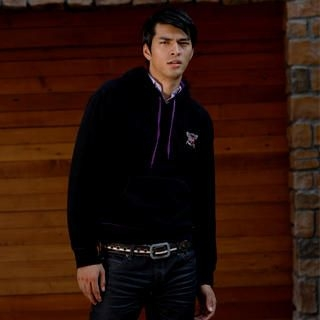 Picture of Justyle Crest Embroidered Fleece Hooded Pullover 1021545580 (Justyle, Mens Tees, China, Mens Causal Tops)