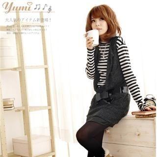 Buy YUMI Sleeveless Long Knit Top 1022079250