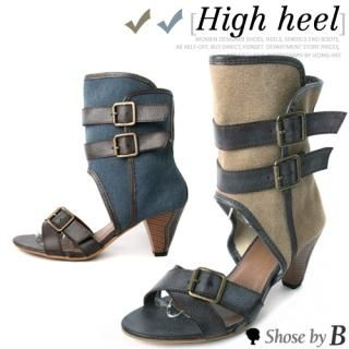 Picture of Shoes by B Buckled Strap Accent Sandals 1023034546 (Sandals, Shoes by B Shoes, Korea Shoes, Womens Shoes, Womens Sandals)