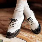 Two-Tone Wingtip Patent Oxfords 1596